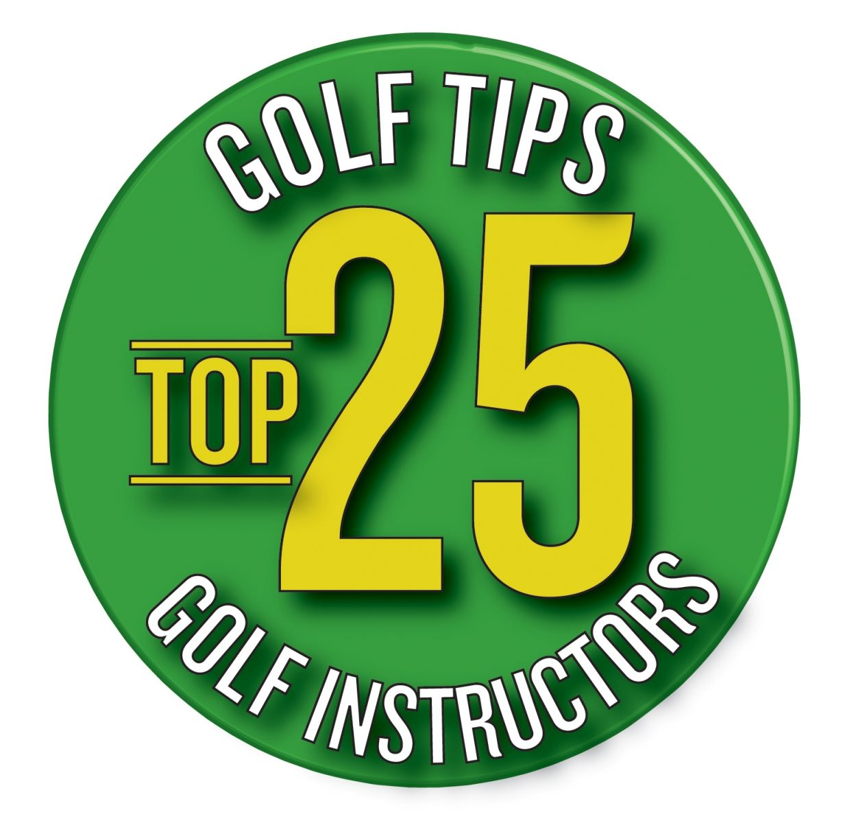 Badge for Golf Tips Top 25 Golf Instructors