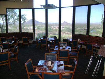 Interior shot of The Grille at Eagle Mountain Golf Club
