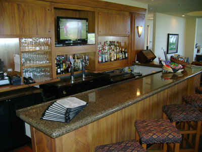 Shot of the bar at The Grille at Eagle Mountain