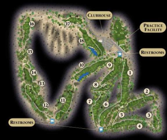 Overview of course layout at Eagle Mountain