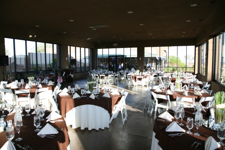 Interior shot of the pavilion banquet facility at Eagle Mountain Golf Club